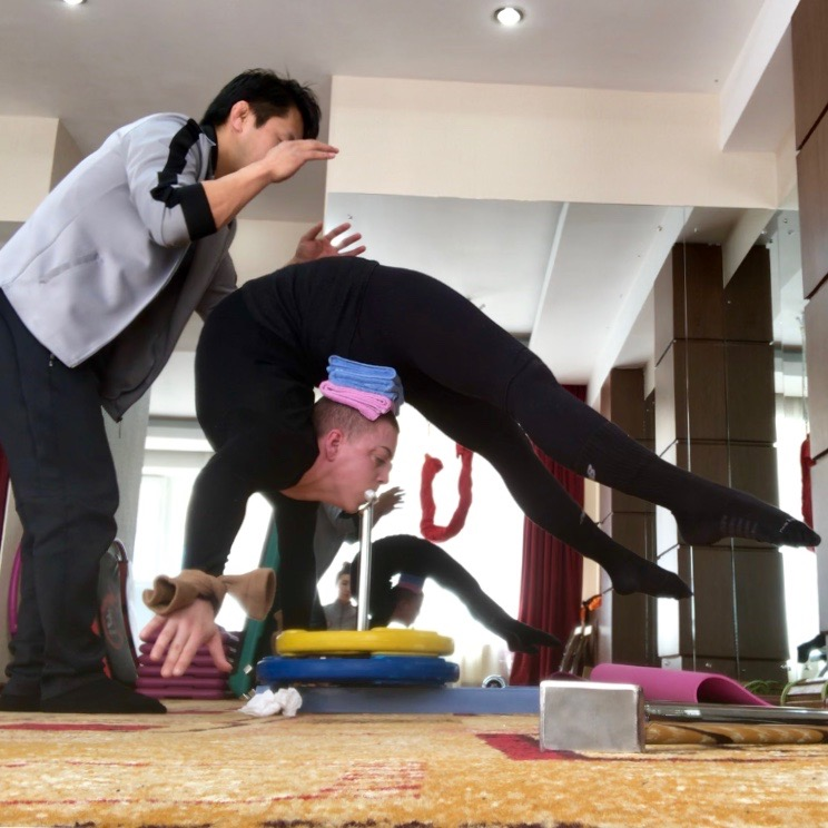 Contortion training in Mongolia