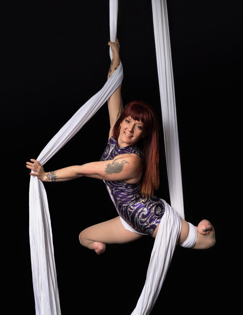 Erin Ball on silks