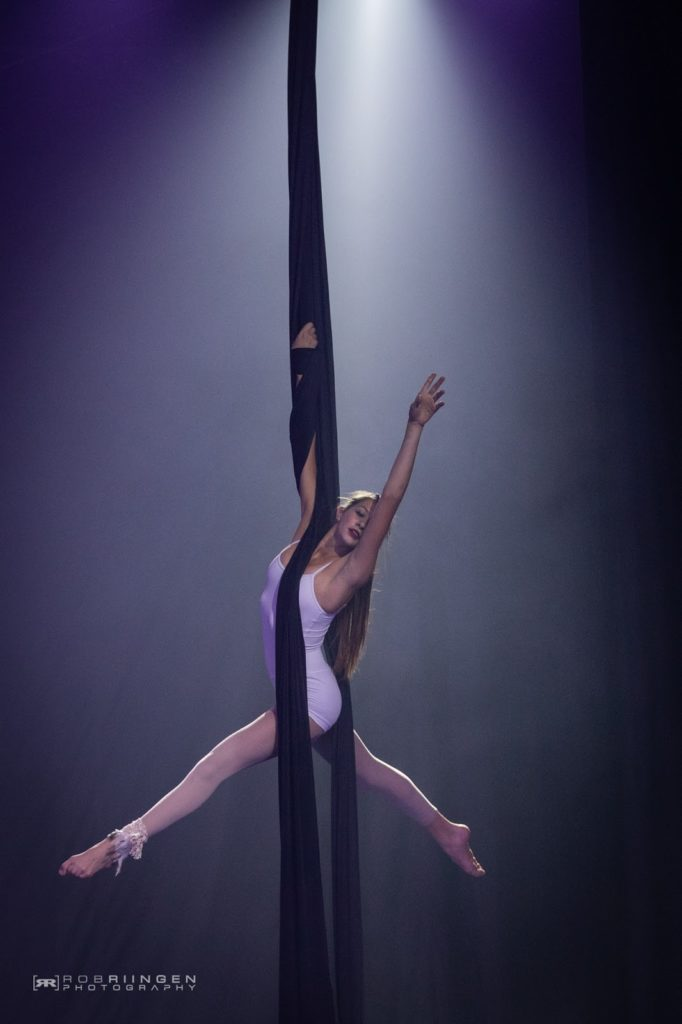 Aerialist on silks