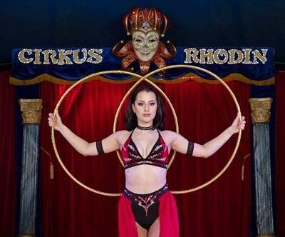 hoop artist in circus