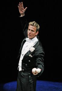 Juggler in a tuxedo
