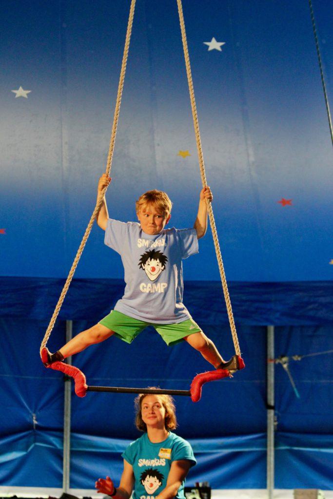 Trapeze artist at Circus Smirkus