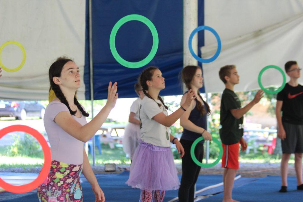 Juggglers at Camp Circus Smirkus