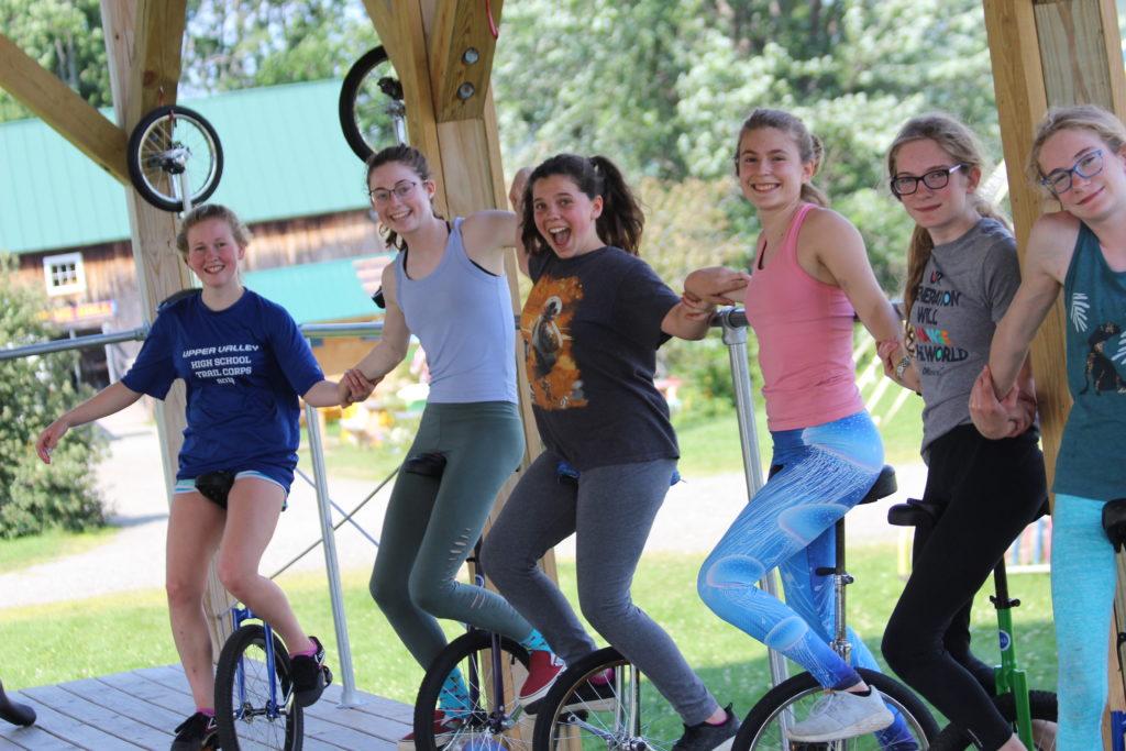 Unicyclers at Camp Circus Smirkus