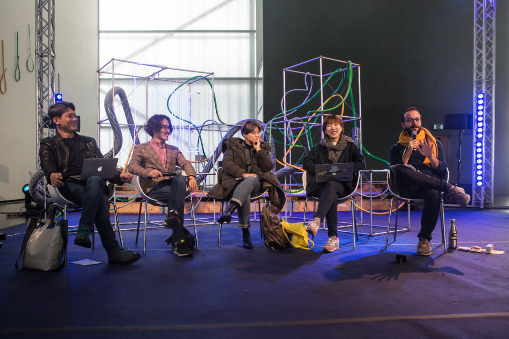 A panel of circus artists from South Korea at Circus Forum