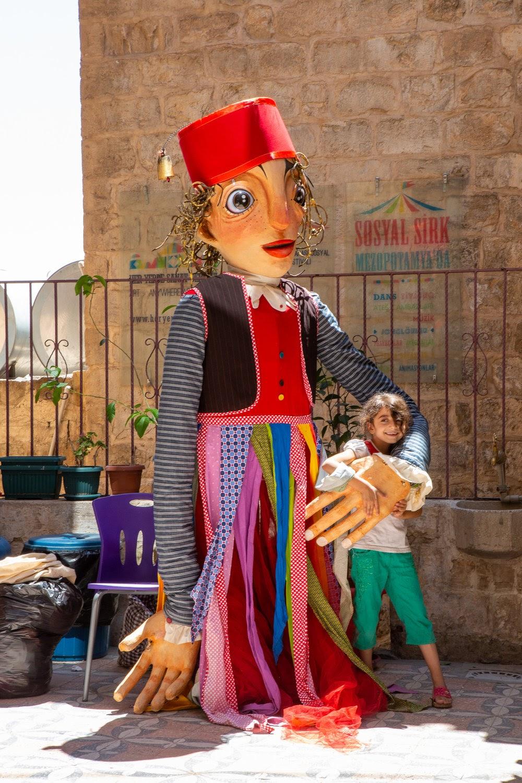 Giant puppet, Social Circus,Initiatives,Focus,Marginalized