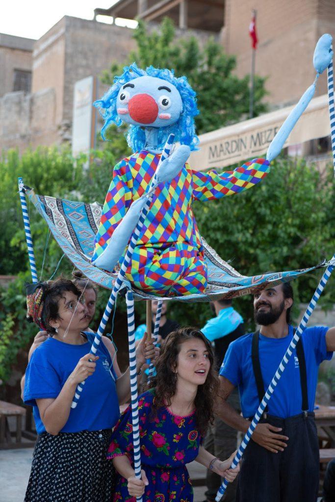 Blue puppet, Social Circus,Initiatives,Focus,Marginalized