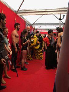 Backstage at Cirque de Demain