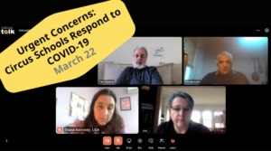 Urgent Concerns– Panel Talk: Circus Schools Respond to COVID-19