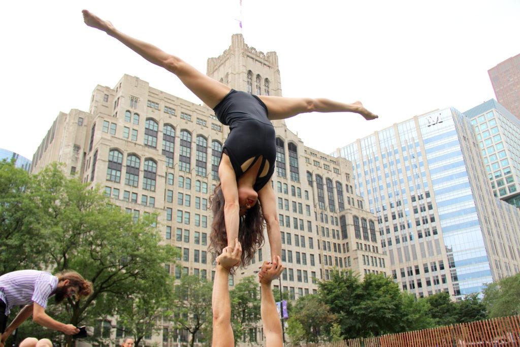 Hand to hand acrobatics