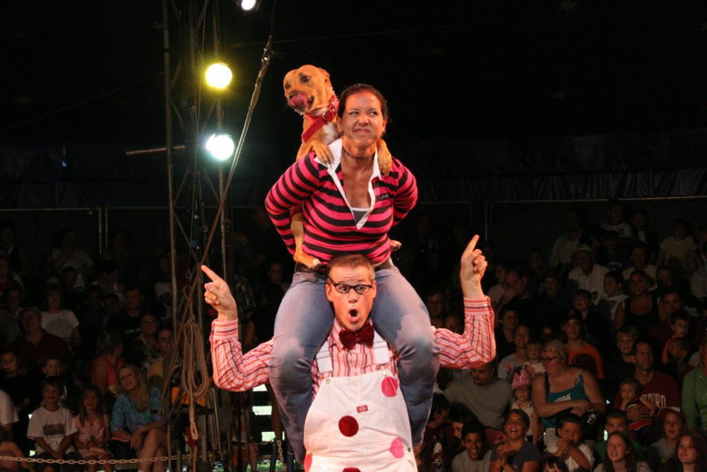 Circus dog act
