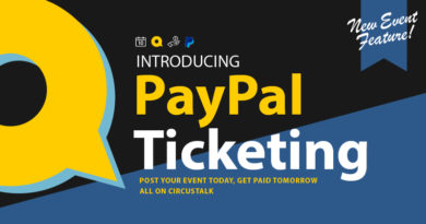 CircusTalk Launching New Feature: PayPal Ticketing on Event Posts