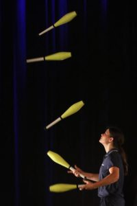 female juggler