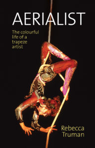 Book cover with aerialist on it
