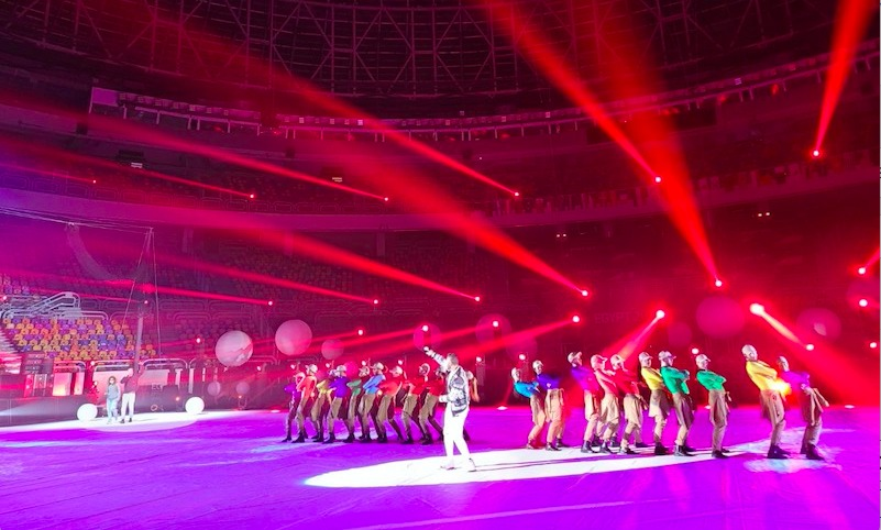 Cirque Éloize at Opening of World Men's Handball Championship Egypt 2021