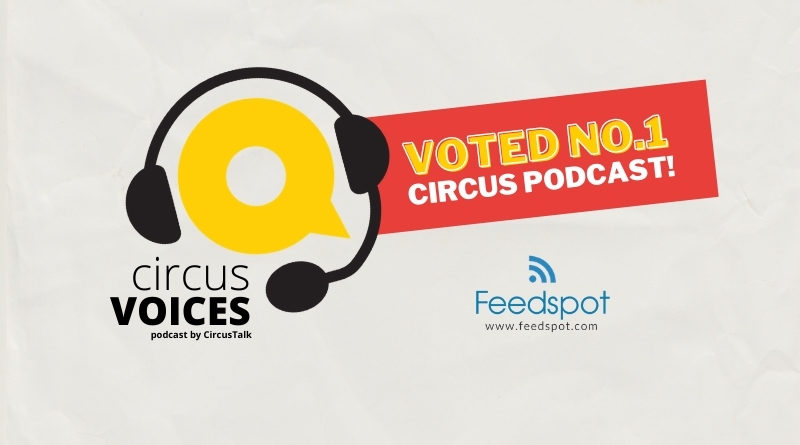 Circus Voices Graphic depicting the CircusTalk logo wearing a headset