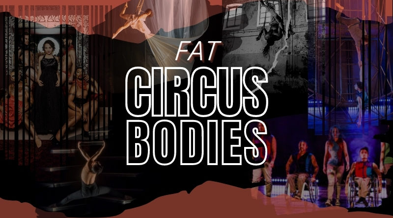 a collage of circus bodies
