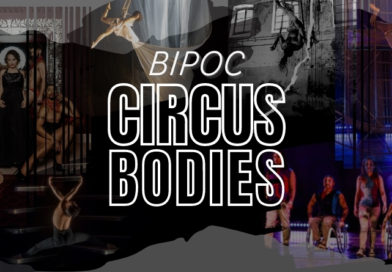 a collage of circus performers with the title BIPOC Circus Bodies outlined in white