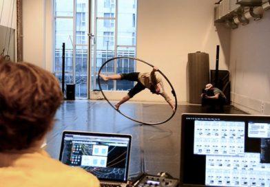 A man watches Cyr wheel