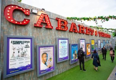 A snapshot from Underbelly festival showing a cabaret wall