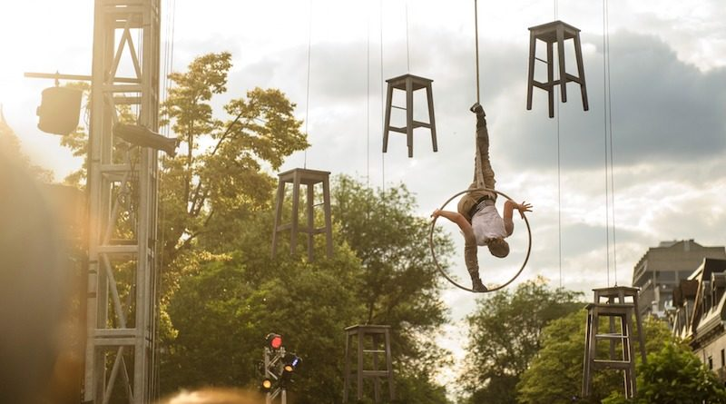 A fantastical outdoors shot of aerial Lyra