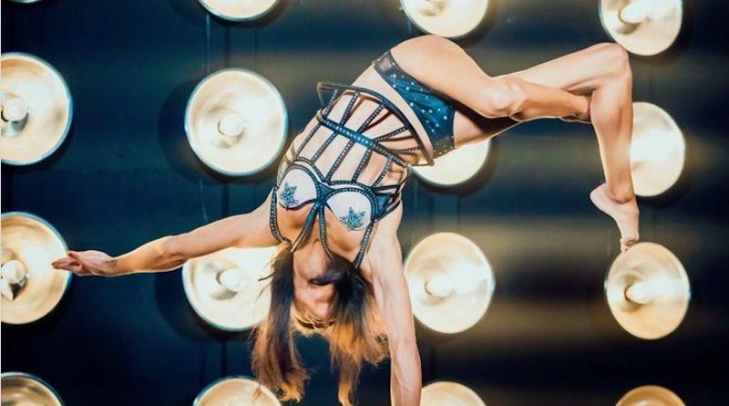 Shenea Stiletto doing a handstand