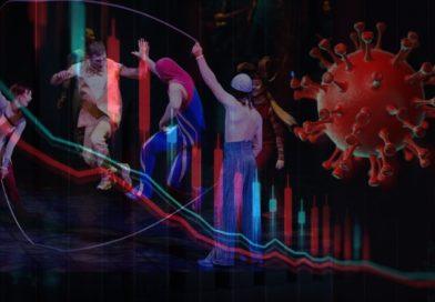 Cirque du Soleil performers skipping rop as coronavirus passes by