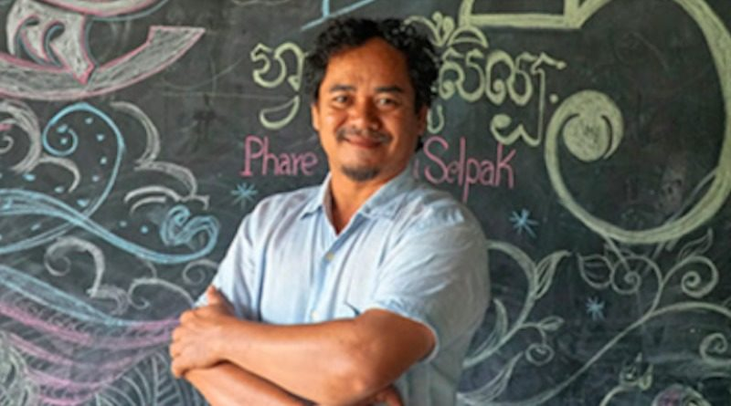 Lokru Srey Bandaul smiles into the camera