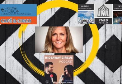 Stacy Clark amid the circus podcast circuit