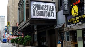 A theater advertises Springsteen on Broadway