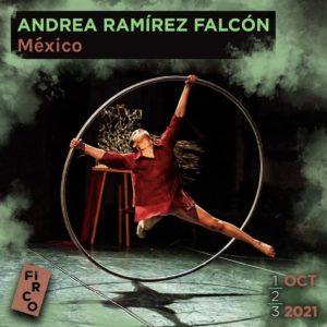 Andrea Ramírez Falcón spins on the Cyr wheel