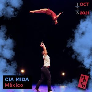 Michael tosses Frida as she flips through the air