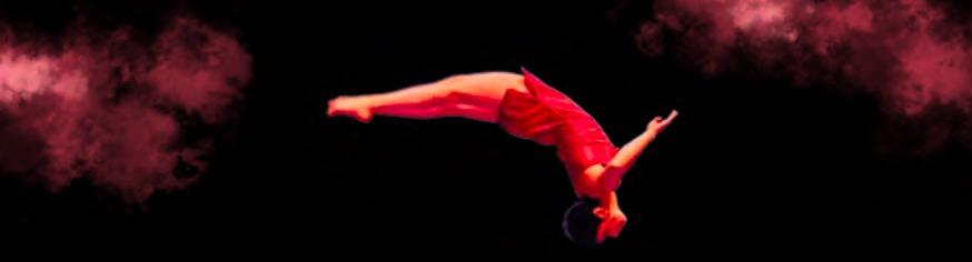 Frida Velasco flips through the air