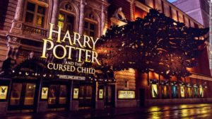 A theatre display for Harry Potter and the Cursed Child