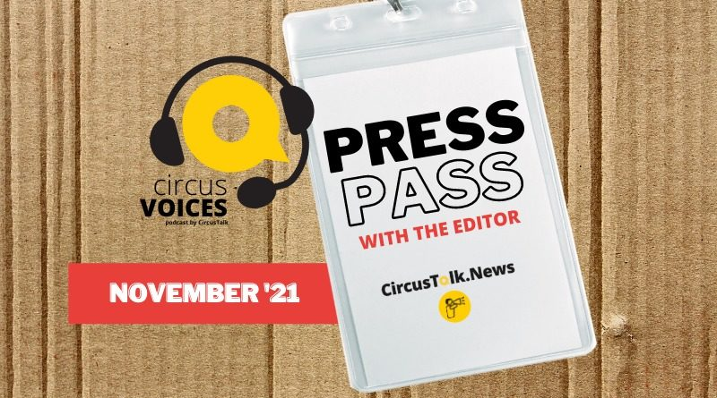 Press Pass with the Editor banner, Nov. 2021
