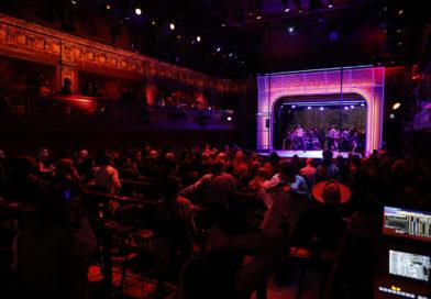 "The theater at Club Fugazi on ""Dear San Francisco""'s opening night"