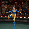 Kicking bowls to head on unicycle - Circus Acts - CircusTalk
